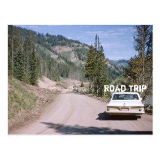 Vintage Vacation Montana Road Trip Classic Car Postcard