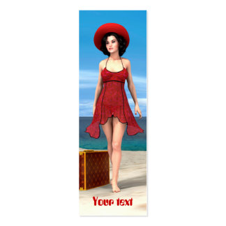 Vintage Vacation Pack Of Skinny Business Cards