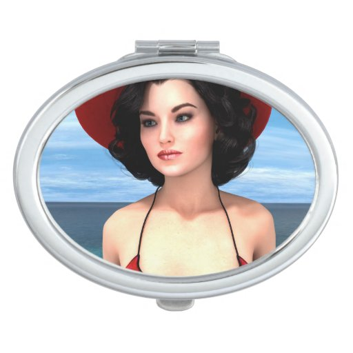 Vintage Vacation Mirror For Makeup