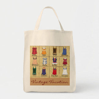 vintage vacation- tote bag