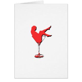 Vintage Vagas Martini Girl Card