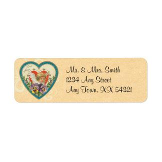 Vintage Valentine Address Labels