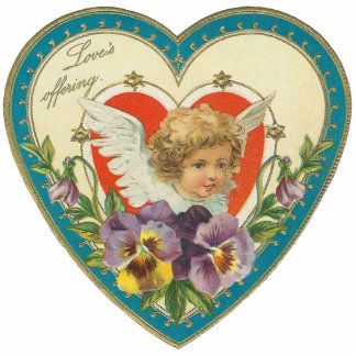 Vintage Valentine Broach Pin Photo Sculpture Badge