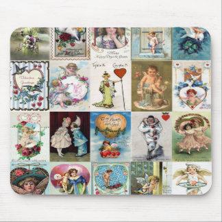 Vintage Valentine Cards Mouse Pad