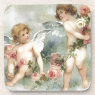 Vintage Valentine Cherubs Beverage Coaster