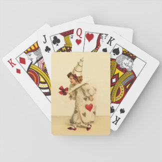 Vintage Valentine Clown Playing Cards