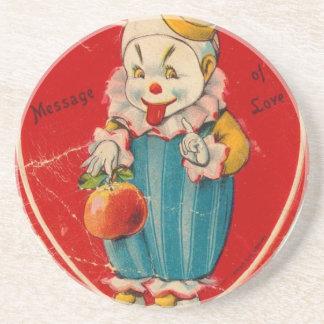 Vintage Valentine Beverage Coasters