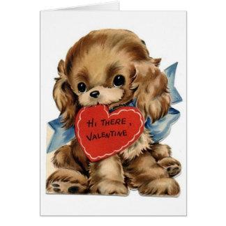Vintage Valentine Cocker Spaniel Greeting Card