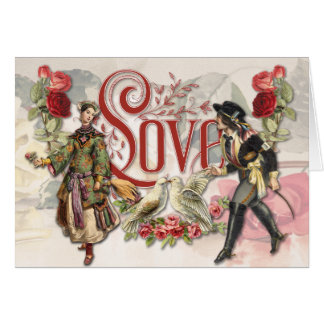 Vintage Valentine Collage Greeting Card