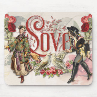 Vintage Valentine Collage Mousepad