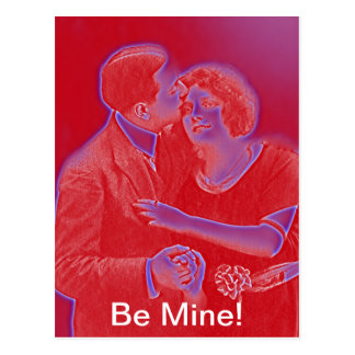 Vintage Valentine Couple in Red Post Cards