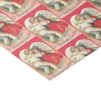 Vintage Valentine Couple party fun wrap Tissue Paper