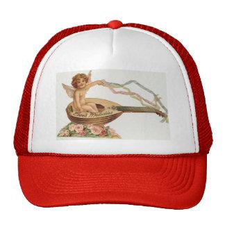 Vintage Valentine Cupid Loves Melodies Cap