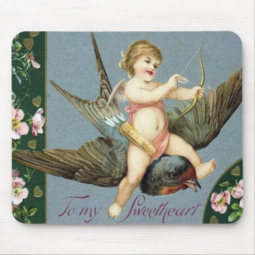 Vintage Valentine Ephemera and Altered Art Mouse Mats