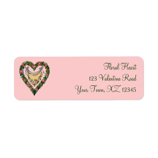 Vintage Valentine Heart Return Address Label