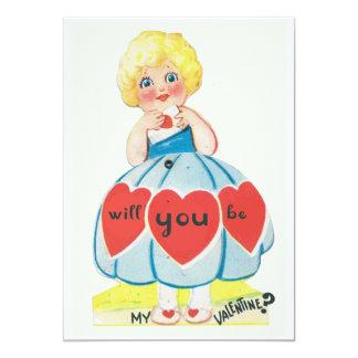 Vintage Valentine Invitation