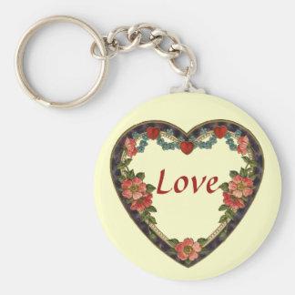 Vintage Valentine Keychain