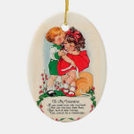 Vintage Valentine Kiss Ceramic Oval Decoration