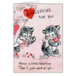 Vintage Valentine Kitty Card for Kids