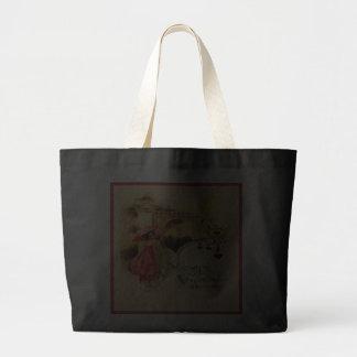 Vintage Valentine Message Pink Parasol Black Bag