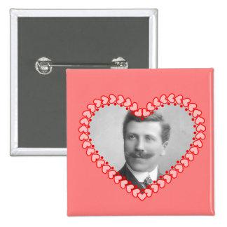 Vintage Valentine Photo Button