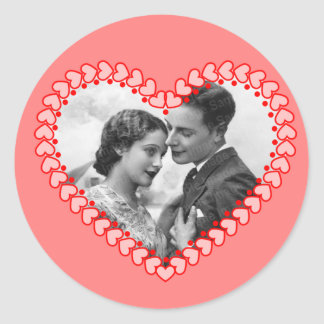 Vintage Valentine Photo Sticker