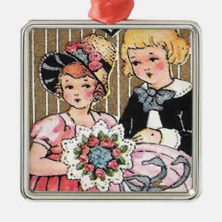 Vintage Valentine Picture Ornament
