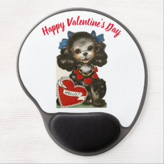 Vintage Valentine Puppy Gel Mouse Pad