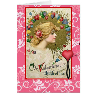 Vintage Valentine Red  Schmucker carry your heart Card
