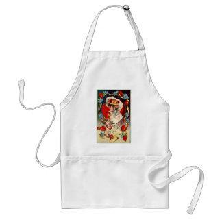 Vintage Valentine's Day Bag Adult Apron