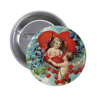 Vintage Valentine s Day Cupid Pinback Buttons