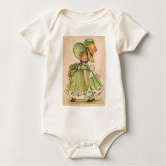 Vintage Valentine St Patrick's Day Card Baby Bodysuit