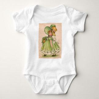 Vintage Valentine St Patrick's Day Card Infant Creeper