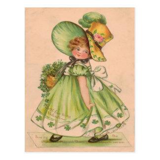 Vintage Valentine St Patrick's Day Card Postcard