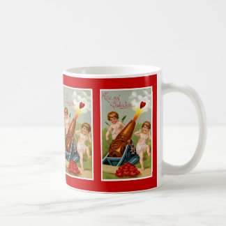Vintage Valentine with Heart Cannon Coffee Mug