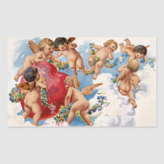 Vintage Valentine's Day Angel Stickers