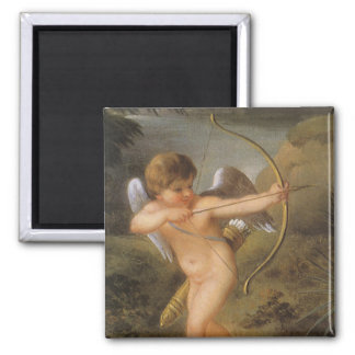 Vintage Valentines Day, Bow and Arrow Cupid Forest Magnet