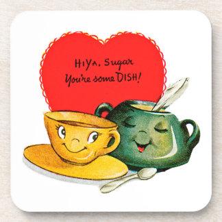 Vintage Valentine's Day Card Coasters