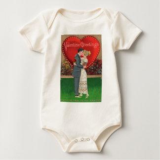 Vintage Valentine's Day Collage Baby Bodysuit