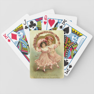 Vintage Valentine's Day Friendship Bicycle Playing Cards
