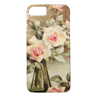 Vintage Valentine's Day Love Romance Pink Roses iPhone 7 Case