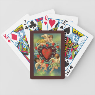 Vintage Valentine's Day, Victorian Angels Hearts Bicycle Playing Cards