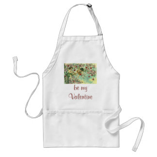 Vintage Valentines Day Victorian Cupids Heart Tree Apron
