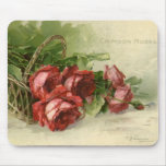 Vintage Valentine's Day, Victorian Red Roses Mouse Pads