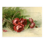 Vintage Valentine's Day, Victorian Red Roses Postcards