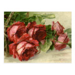 Vintage Valentine's Day, Victorian Red Roses Post Cards