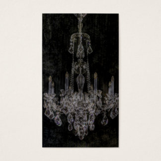 Vintage vampire gothic distressed chandelier business card