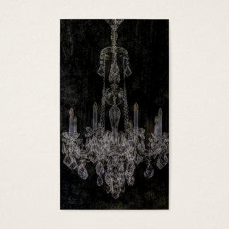 Vintage vampire gothic distressed chandelier business card
