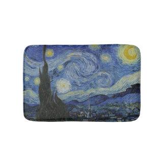Vintage Van Gogh Starry Night Bath Mat
