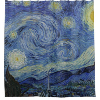 Vintage Van Gogh Starry Night Shower Curtain